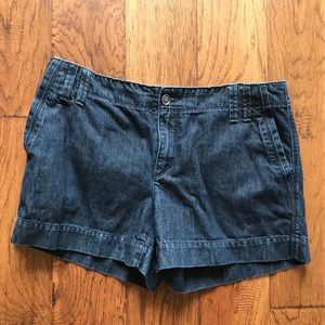 "3"" LOFT Dark Denim Shorts"